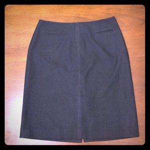 Nordstrom GRACE charcoal knee length skirt